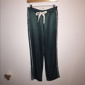 Abercrombie & Fitch Faux Silk  Green PJ bottoms S